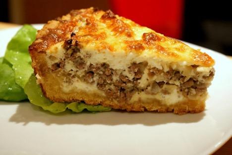 быстрый пирог с мясом на кефире