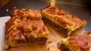 вариант 1. Мясной слоеный пирог