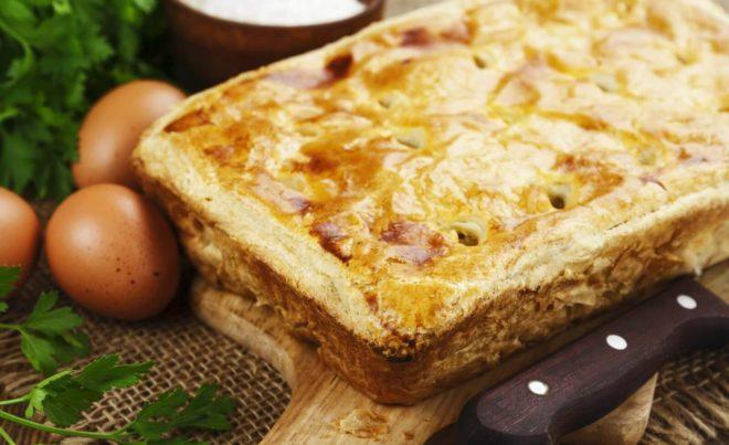 Вкусный постный пирог с капустой