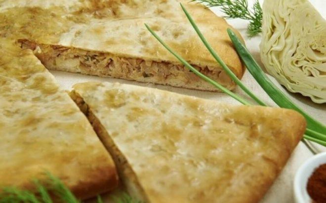 Осетинский пирог из капусты