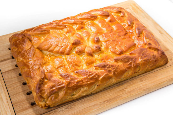 Ароматный постный пирог с капустой