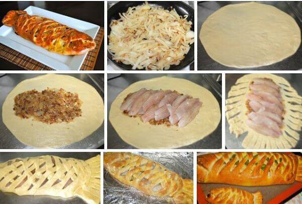 Пирог с рыбой и картошкой на дрожжах