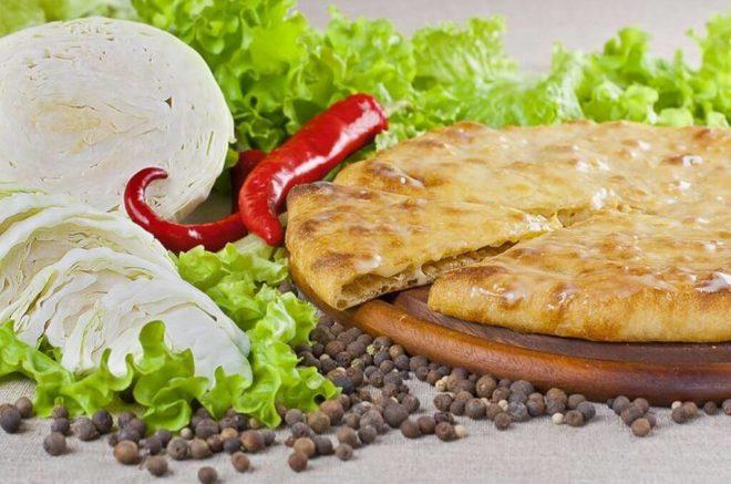 Капустный осетинский пирог