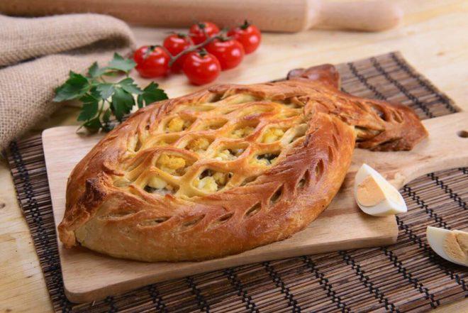 Вкусный рецепт рыбного пирога с дрожжевым тестом