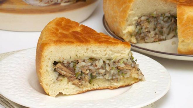 Вкусное тесто для рыбного пирога