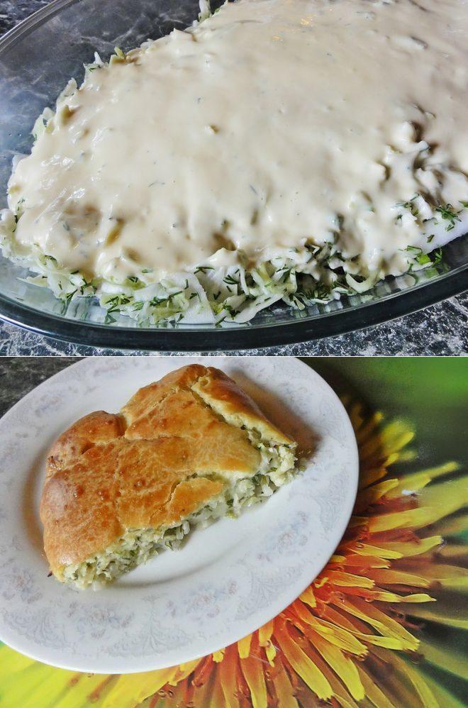 Пирог с капустой ленивый вкусный