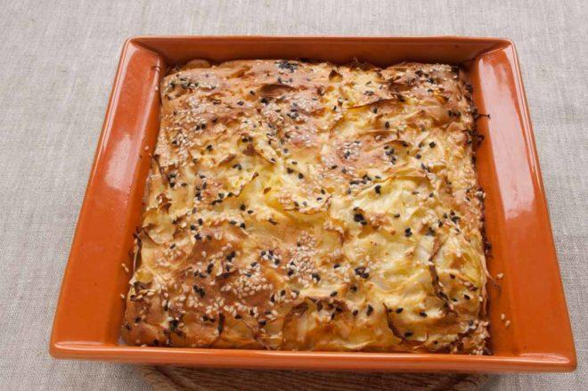 Вкусный рецепт постного пирога с капустой