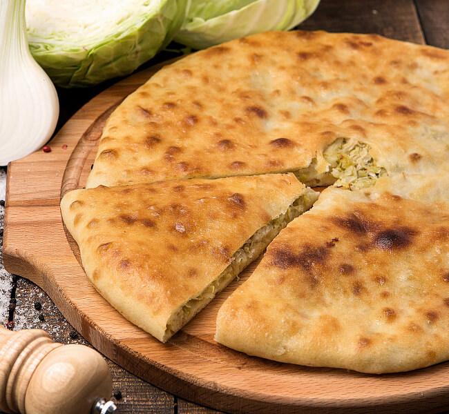 Быстрый осетинский пирог с капустой