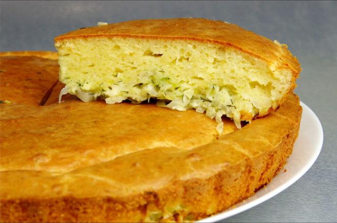 Рецепт заливного пирога с капустой