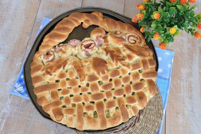 Заливной капустный пирог на майонезе