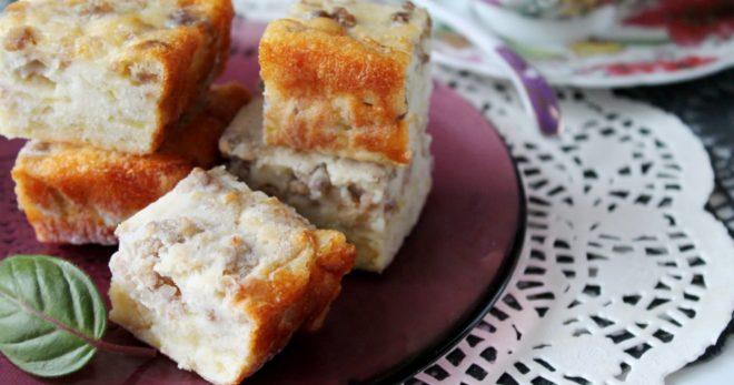 Легкий капустный пирог на кефире и майонезе