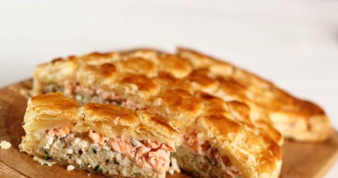 Постный пирог с горбушей в духовке: рецепт с фото пошагово